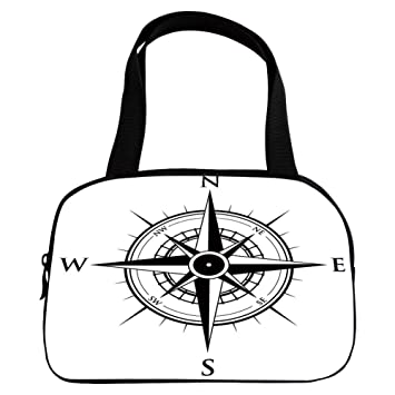 040e8845def iPrint Increase Capacity Small Handbag Pink,Compass,Primitive Navigation  Technology on The Sea Discovery