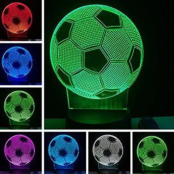 Jinson Well 3d Fussball Lampe Optische Illusion Nachtlicht 7