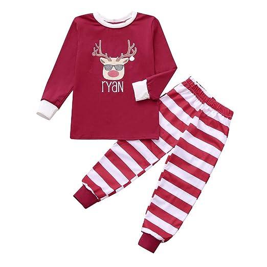 5fbf34be07b3 Pumsun ❤ Kids Baby Girl T Shirt Tops Pants Family Pajamas Sleepwear  Christmas Outfits (