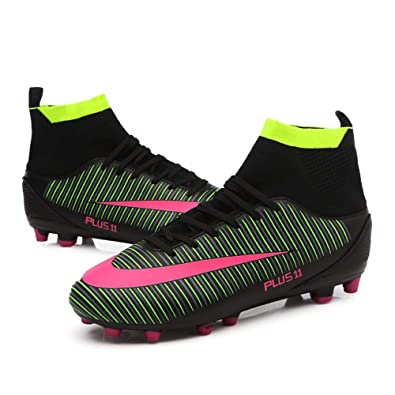 dcef011c7 FCSHOES Men s Soccer Shoes Football FG Soccer Cleats Outdoor Sneakers  Futsal Shoes High Ankle Football Boots