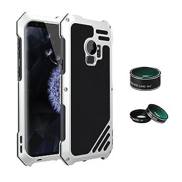 ARBLOVE 3 in 1 Galaxy S9 Funda Impermeable con 3 Cámara Lentes,Ultra Ligero IP 54 360 Grado Aluminio Anti-Agua y Anti-Choque Proteccion Total Carcasa ...