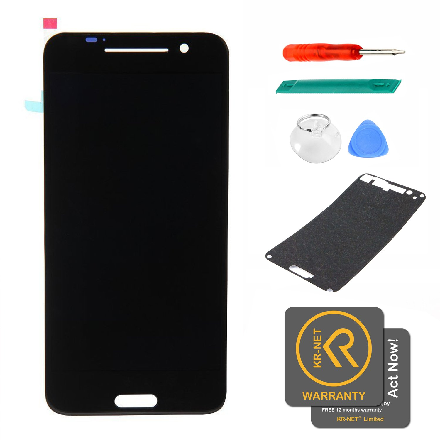 KR-NET Black Display LCD Touch Screen Digitizer Assembly+Pre-Cut LCD sticker for HTC One A9 Hima Aero