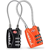 TSA Approved Luggage Locks, Easy Re-settable Combination Backpack Lock, Travel Lock for Suitcase, 1,2 & 4 Pack (Black…