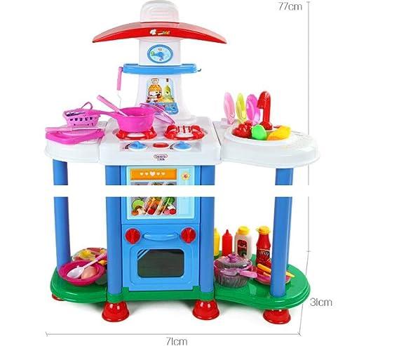 Amazon.com: Juego de cocina de plástico para niños con luz y ...