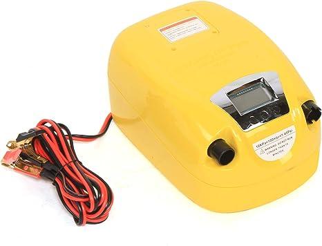 LCD Rubber inflatable boat high pressure electric air pump 80KPA 12V DC GP80D