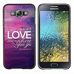 Dragon Case - FOR Samsung Galaxy E5 E500 - bubble purple yellow lights summer - Caja protectora de pl??stico duro de la cubierta Dise?¡Ào Slim Fit