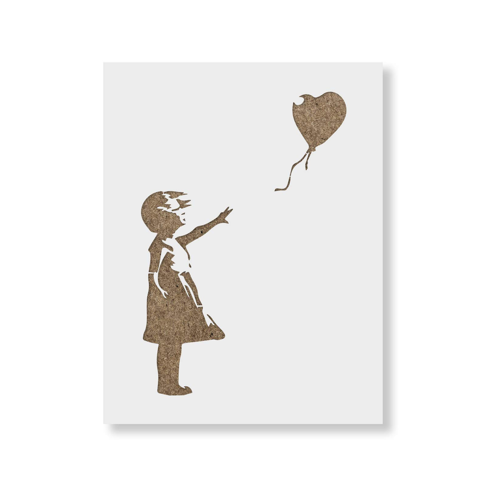 Girl with a Balloon Banksy Stencil for Walls and Crafts - Reusable Banksy Stencils for Painting in Small & Large Sizes - Made in USA