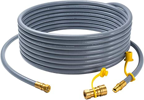 GASPRO 24FT Natural Gas Hose with 3/8 Quick Connect/Disconnect Male Flare for BBQ, Grill, Patio Heater, Low Pressure
