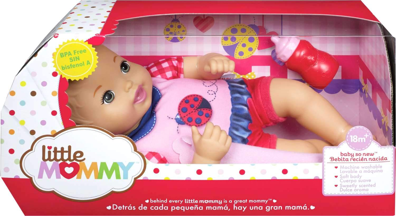 Little Mommy Baby So New Doll - Pink Stripes