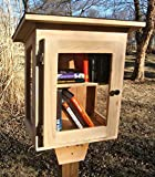 Little Library, with window walls. Handmade using Cedar