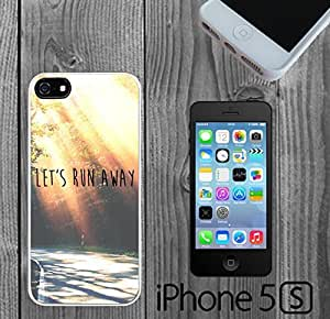 Cute Run Away Quote Custom made Case/Cover/Skin FOR iPhone 5/5s