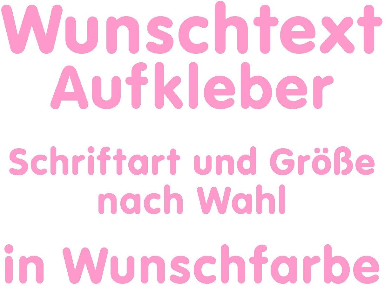 Samunshi/® Aufkleber Autoaufkleber Name Wunschname Sticker Wunschtext Personalisierbar variabel schwarz