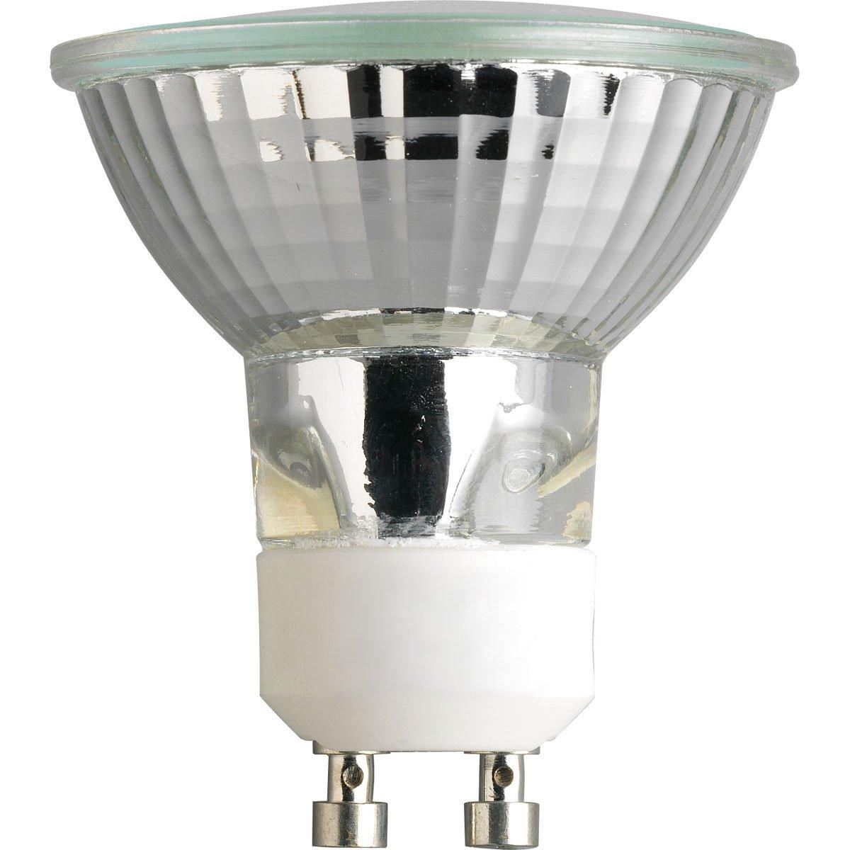 Progress Lighting P7834 01 50 watt MR16 Gu10 MFL Coated Lamp Eliminates Pink Color Behind Lamp