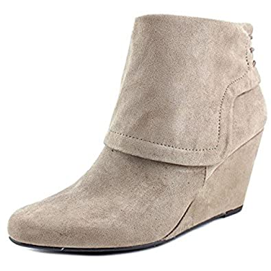 Jessica Simpson Reaca Women Pointed Toe Suede Black Bootie Warm Taupe,6