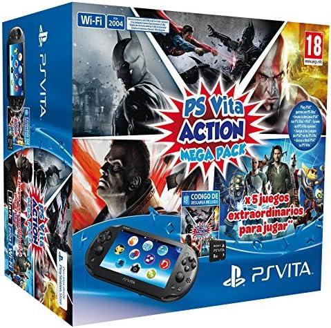 PlayStation Vita - Consola + Action Mega Pack + Tarjeta De Memoria ...
