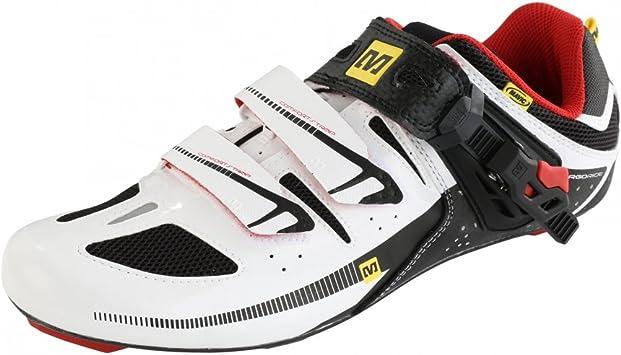 Zapatillas para bicicleta de carretera Mavic Avenge blanco/negro para hombre (Tamaño: 44): Amazon.es: Deportes y aire libre