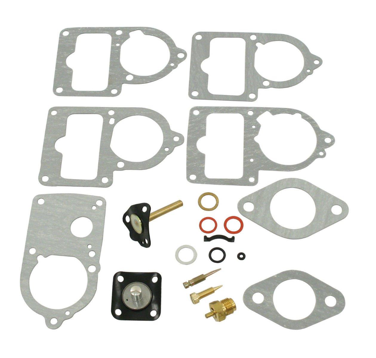 Durable Top Quality KIPA Carburetor Rebuild kit For VW SOLEX Brosol Bocar EMPI 28 30 34 PICT-3 Stock Carburetor Repair With Float /& 12V Cut off Valve Solenoid