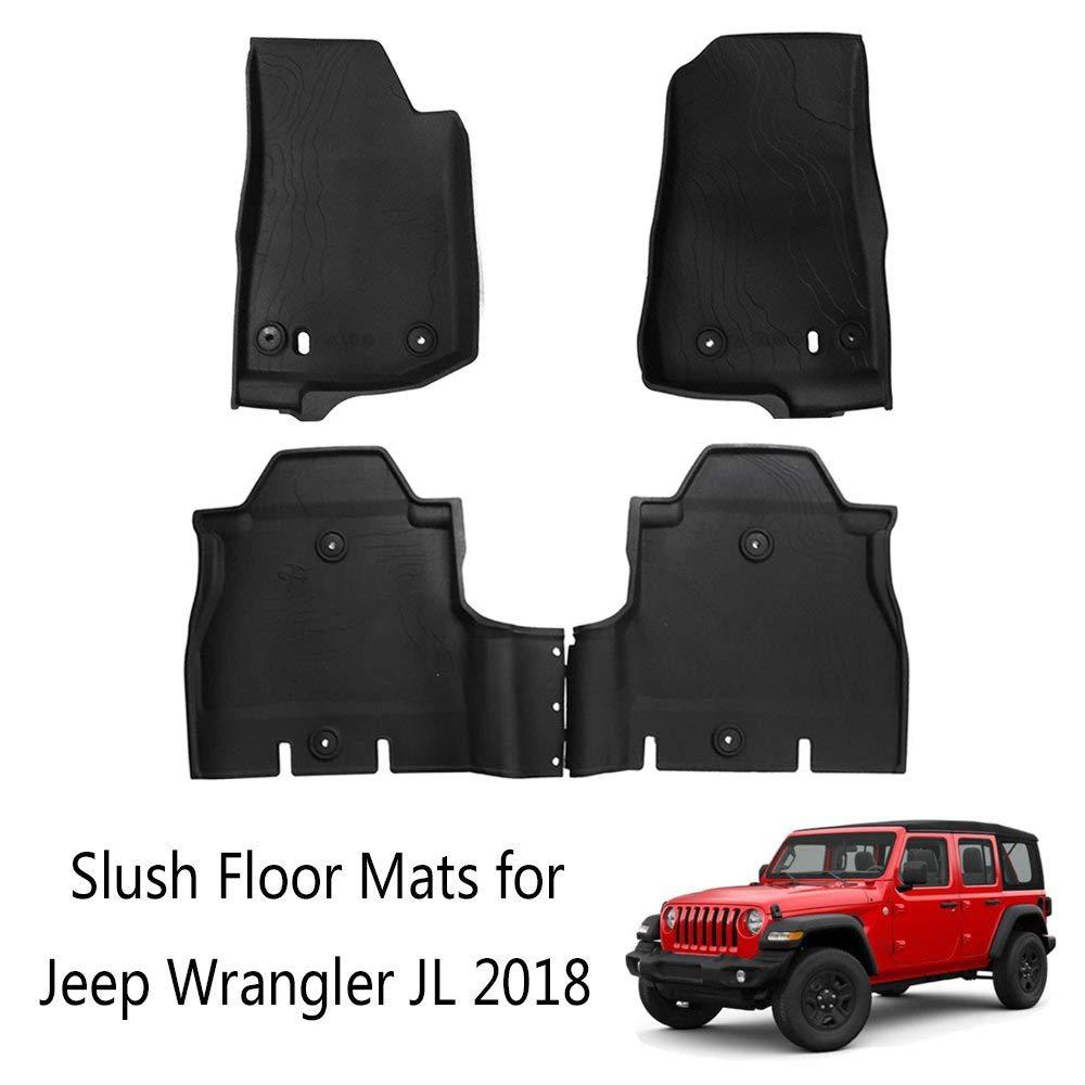 Fits Jeep Wrangler JL 2018 Slush Floor Mats All Weather Mat 4 door