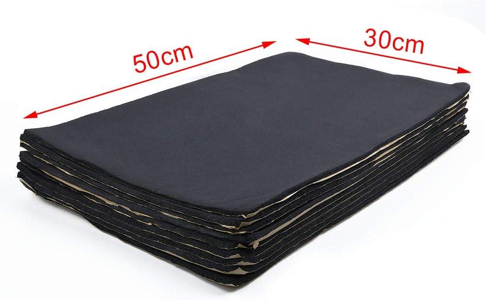 L-DiscountStore 6 MM 9 Pcs Insonorisation Insonorisation du V/éhicule Feuille De Mousse /À Cellules Ferm/ées avec Support Adh/ésif 50 cm X 30 cm