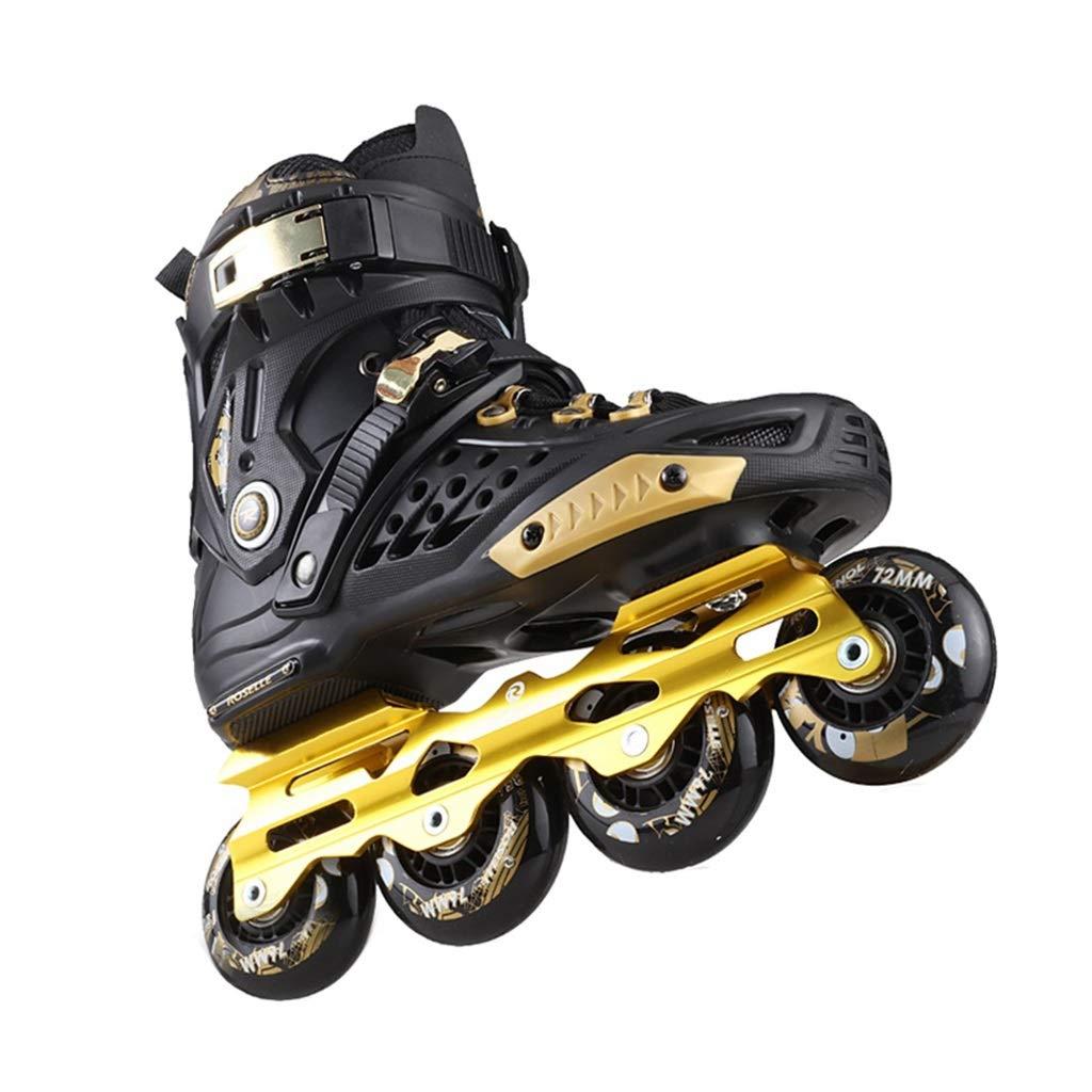 LXP インラインスケート アダルト初心者の単列スケート、プロのファンシーインラインローラーシューズ、反衝突衝撃吸収、通気性、3色 高構成プロスケート靴 (色 : 紫の, サイズ さいず : EU 44/US 11/UK 10/JP 27cm) B07QQJJQ5W EU 38/US 6/UK 5/JP 24cm|ブラック ブラック EU 38/US 6/UK 5/JP 24cm