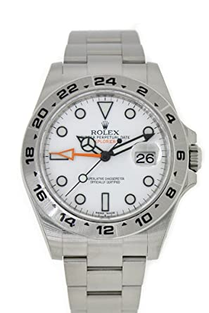 82f63a39fc0 Amazon.com: Rolex Explorer II White Dial Stainless Steel Men's Watch ...