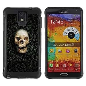 Suave TPU GEL Carcasa Funda Silicona Blando Estuche Caso de protección (para) Samsung Note 3 / CECELL Phone case / / Funny Goth Evil Skull /
