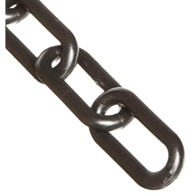 Mr. Chain Plastic Barrier Chain, Black, 2-Inch Link Diameter, 50-Foot Length (50003-50): Industrial Safety Chain Barriers: Industrial & Scientific