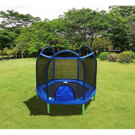 Cheap Durable, Portable, UV Tested, Bounce Pro 7′ My First Trampoline (Ages 3-10) Basic for Kids- Guaranteed safe for Kids