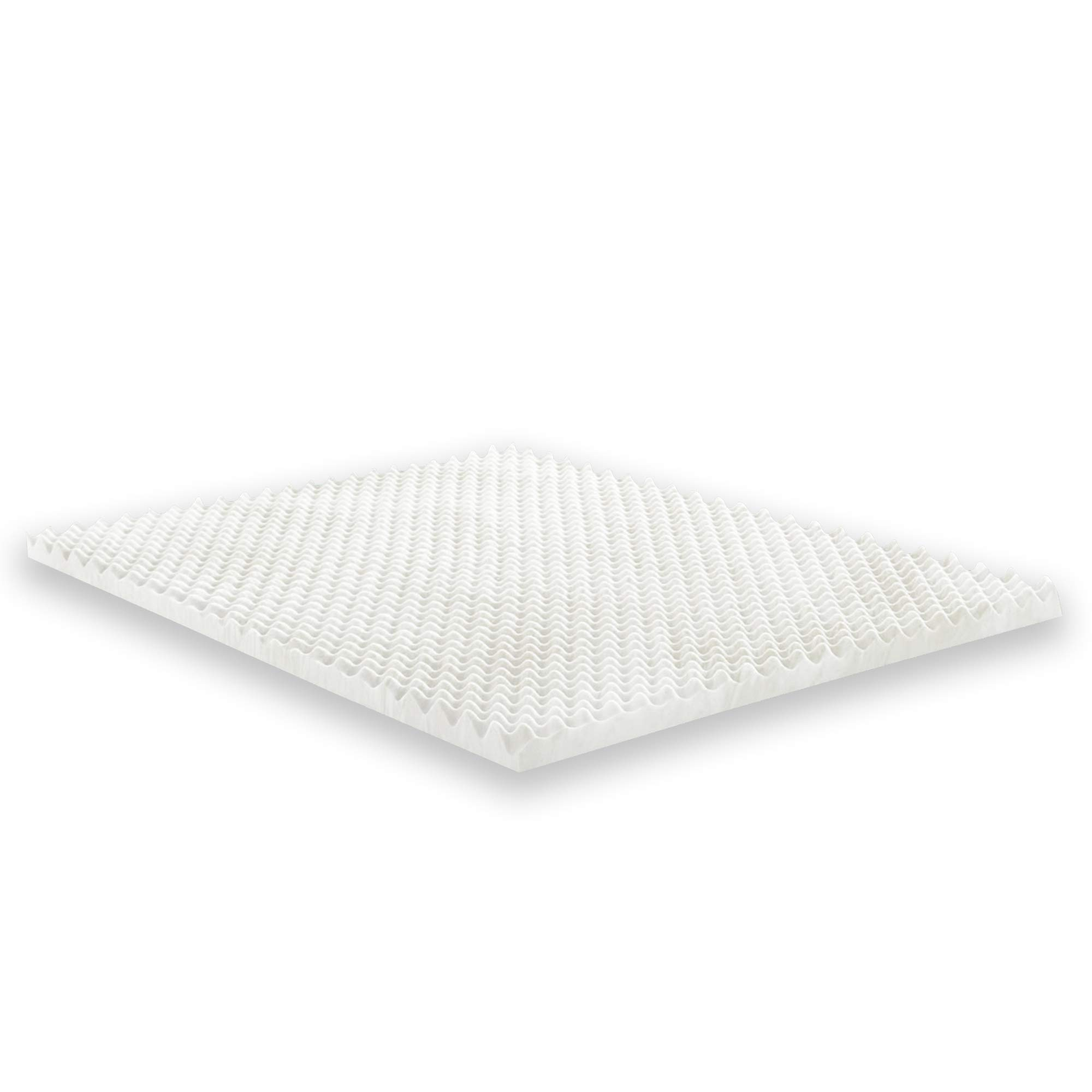 Mayton Mattress Topper 1 Inch Convoluted Egg Crate l Breathable Foam, Twin, 38x74