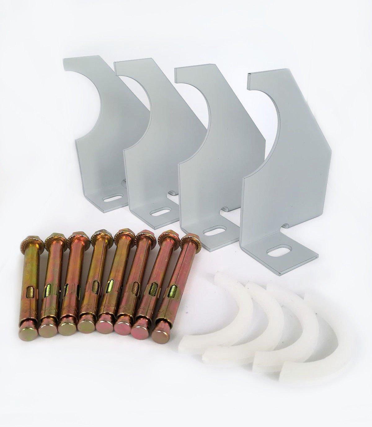 Design vertical à colonnes Bras simple universel Radiateur Supports de fixation (75mm, Argent) B & Z