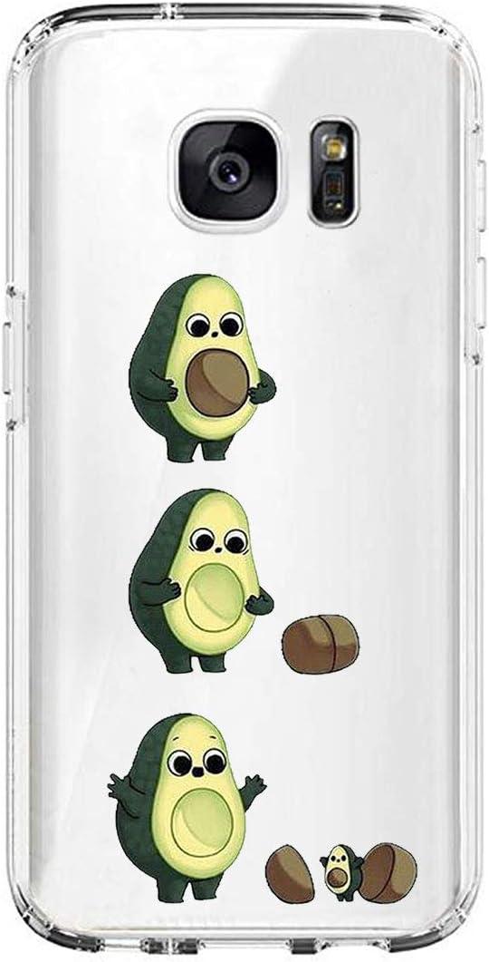 Layeri Kompatibel Mit Samsung Galaxy S6 Edge Plus H/ülle,Soft Silikon Handyh/ülle S/ü/ßes Tier Motiv Transparent Case Ultra D/ünn TPU Schutzh/ülle Bumper Sto/ßfest Cover f/ür Galaxy S6 Edge Plus Telefon