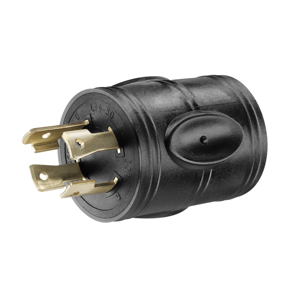 Amazon.com: PowerFit PF923055 240-volt 4-Prong Male Plug Adapter ...