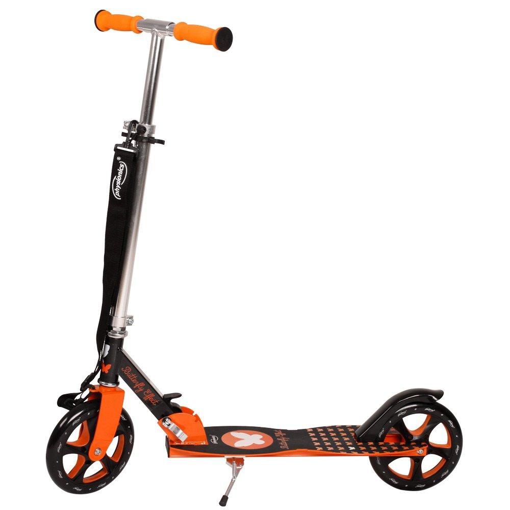 Physionics - Patinete plegable con dos ruedas y manillar - Butterfly: Amazon.es: Juguetes y juegos