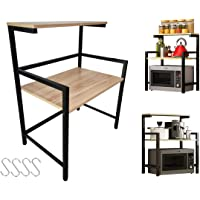 ACCAING [3 Tier] Microwave Oven Rack Stand Spice Holder Kitchen Shelf Storage Tableware Condiment Holder Shelves…
