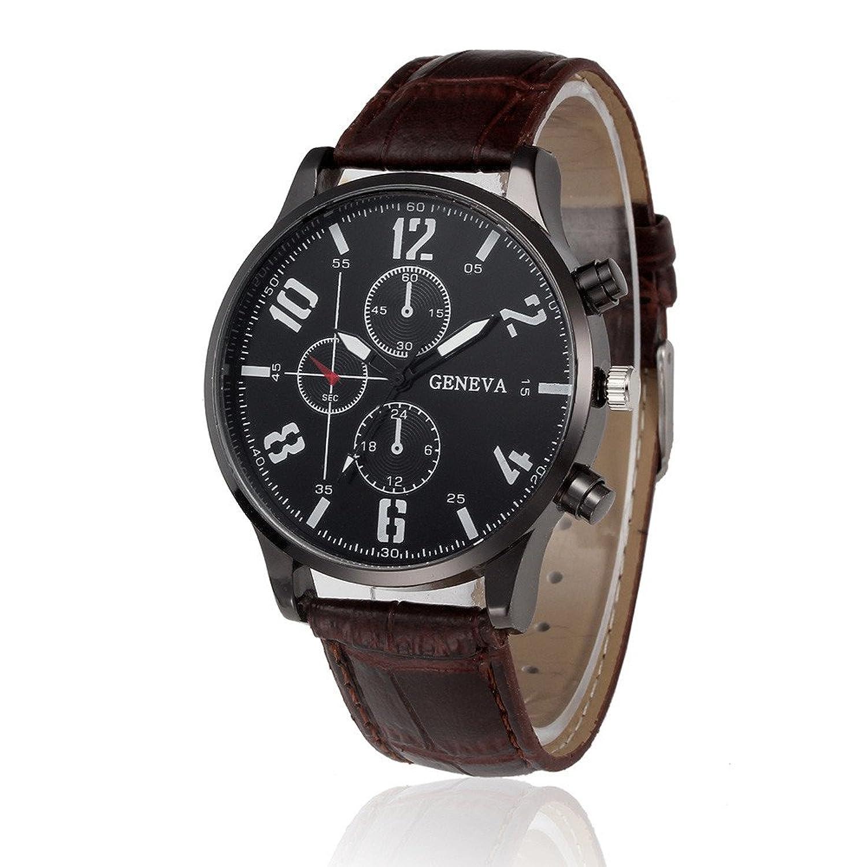 腕時計、baomabaoレディースレトロレザーバンドクオーツ腕時計BW B01NBKWXIG