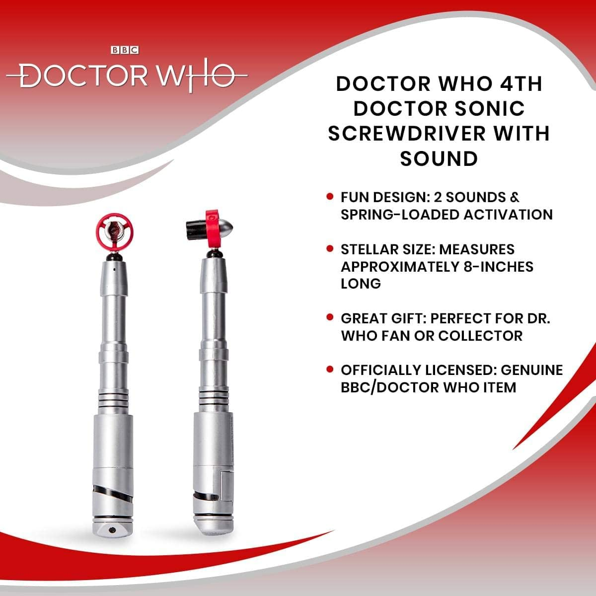 Fourth Doctors Replica Gadget with Dr Who Sound Effects Doctor Who Sonic Screwdriver