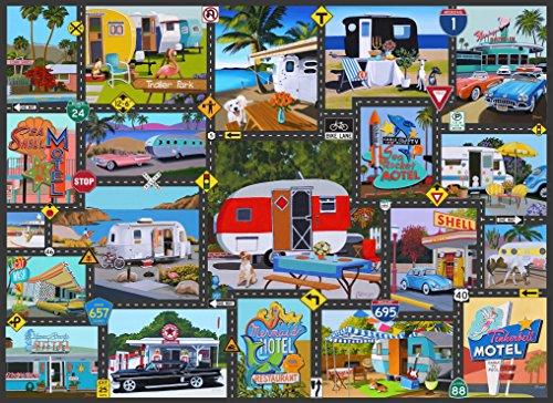 U.S.A. Road Trip 1000 Piece Jigsaw Puzzle Linda Tillman Art