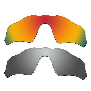 aCompatible 2 Par ventilado lentes polarizadas de recambio para Oakley Radar EV PATH gafas de sol