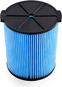 Housmile VF5000 Replacement Filter 3-Layer Pleated Paper Vacuum Filter Fits for Ridgid 5-20 Gallon Wet Dry Vacuums Compatible with WD1450 WD0970 WD1270 WD09700 WD06700 WD1680 WD1851 RV2400A