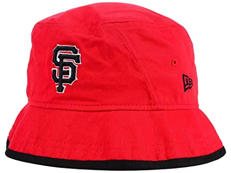 3a10a9ab1 Amazon.com : New Era San Francisco Giants Adult Bucket Hat Red ...