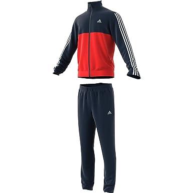 a6eff9f3ab33 adidas Men's Back 2 Basics 3-stripes Tracksuit: Amazon.co.uk: Clothing