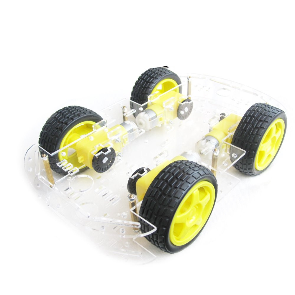 EMO 4 wheel 2 layer Robot Smart Car Chassis Kits with Speed Encoder for Arduino DIY