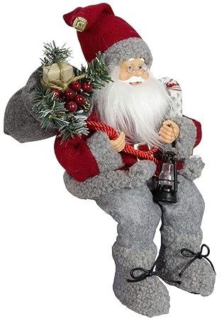 Dekorativer Weihnachtsmann Sitzend Jamie 30cm Santa Claus Nikolaus