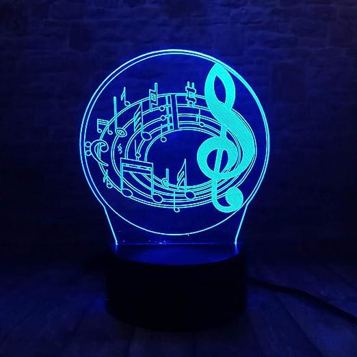 1 Paquete, Maravillosa Nota Musical 3D 7 Gradiente De Color Mesa ...