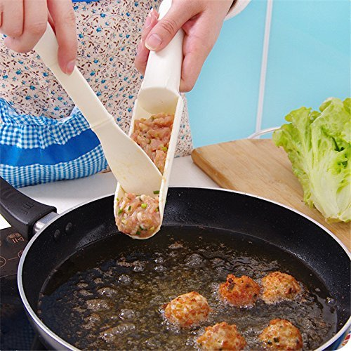 Pakdeevong shop 1set Convenient Meatball Maker Useful Pattie Meatball Fish Ball Burger Set DIY Home Cooking Tool Kitchen Accessories