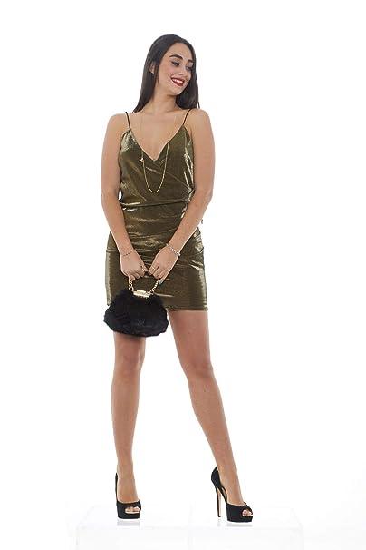 PATRIZIA PEPE Mini Abito Donna Scuba con Lurex 2A1872 A4H4  Amazon ... aa3fcb39a0c