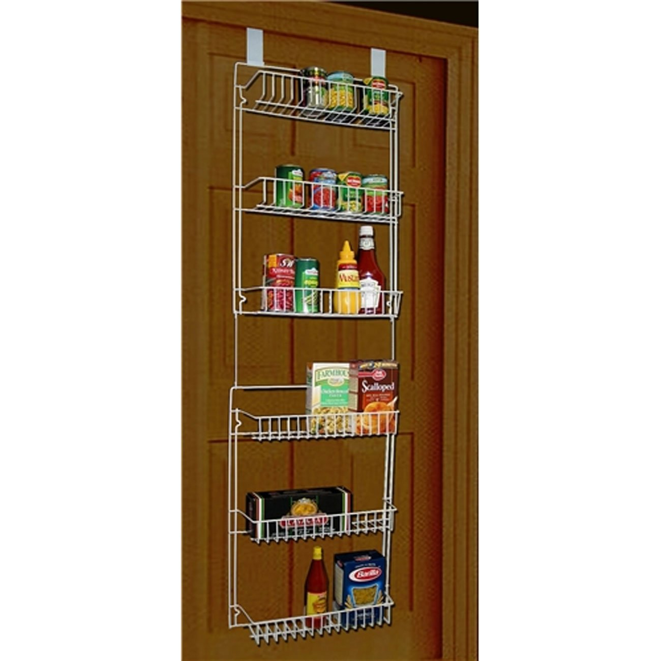 Charming Amazon.com: Storage Dynamics 5 Foot Vinyl Covered Steel Over Door Storage  Basket Rack: Home U0026 Kitchen
