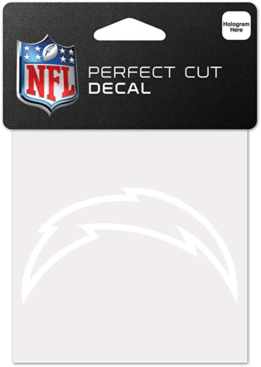 Black 4 x 4 WinCraft NFL San Diego Chargers 95767010 Perfect Cut Color Decal