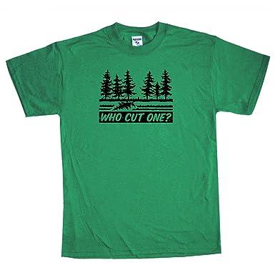 Amazon.com: Shirtmandude T-Shirts Fart Tee Funny Offensive Who Cut ...