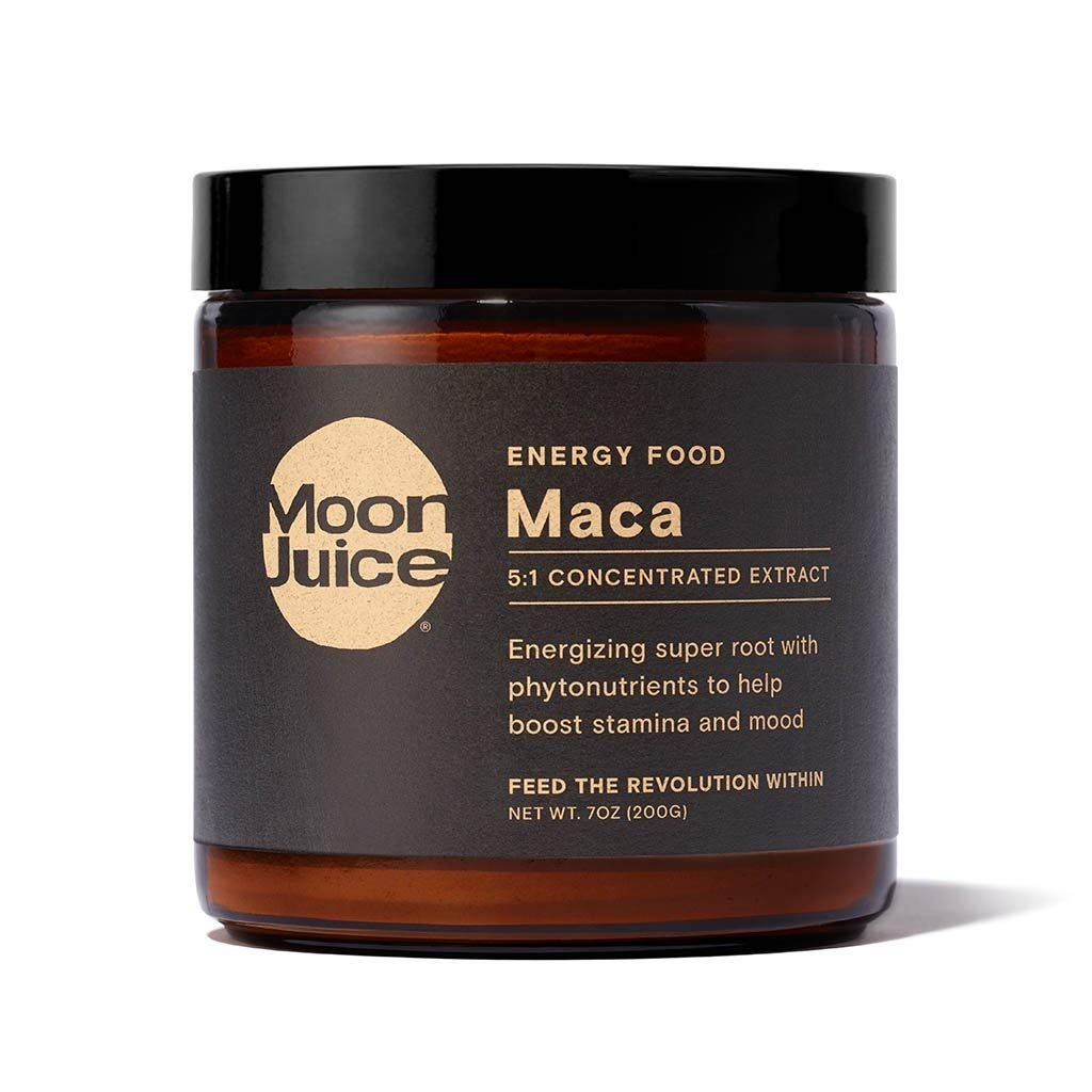 Moon Juice - Maca - Organic Raw Maca Root Powder Extract (5:1 Concentrated Extract) - Mood, Libido, Energy Support & Hormonal Balance - Vegan, Non-GMO, Gluten-Free (7oz, 67 Servings)